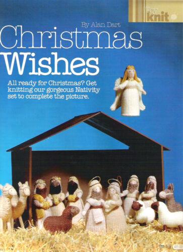 CHRISTMAS  TOY KNITTING PATTERN ALAN DART CHRISTMAS WISHES NATIVITY