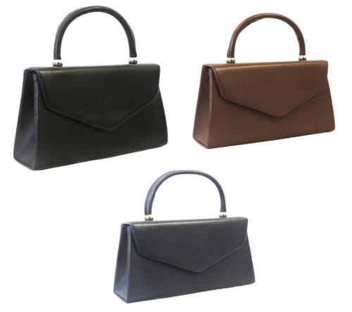 Retro Handbags, Purses, Wallets, Bags   New Retro 1940s 50s WW2 Wartime Leather look Classic Granny Kelly Box Hand Bag $19.95 AT vintagedancer.com