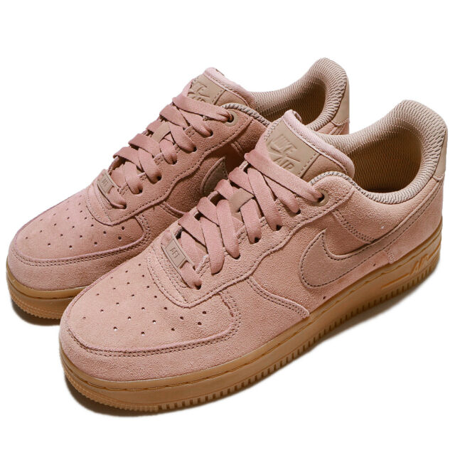 Nike Wmns Air Force 1 07 SE AF1 Particle Pink Gum Suede Women Shoes AA0287 600