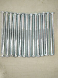 "(25) CARRIAGE HEAD BOLTS 1/2""-13x10"""