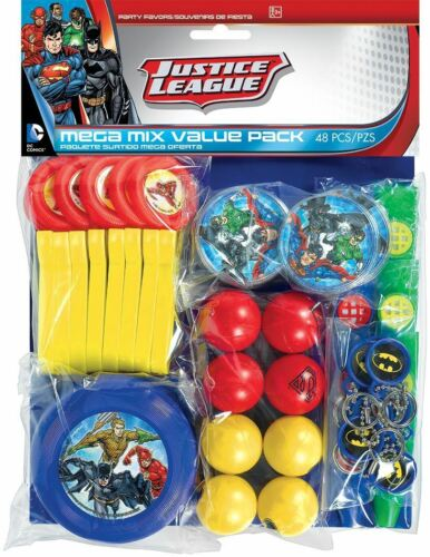 Huge Pack 48pk Justice League Party Favours Loot Bag Fillers Super Hero Party