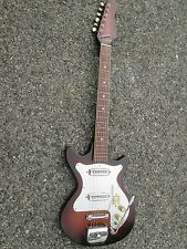 Vintage '60s Kent Teisco Guitar ! CHROME PICKGUARD & VEG-A-MATIC CONTROLS! Japan