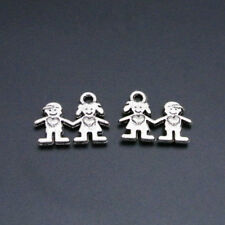 10pcs Antique Cassette Beads Tibetan Silver Charms Pendant DIY 19*11mm