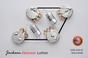 jel deluxe les paul wiring harness 525k cts pot mojotone vitamin t rh ebay com Wiring Harness Diagram mojotone wiring harness les paul