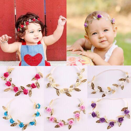 Toddler Kids Baby Girl Rose Flower Hollow Elastic Hair Band Headband Accessories