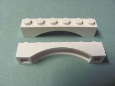 LEGO 3455 @@ Brick, Arch 1 x 6  (x2) @@ WHITE @@ BLANC
