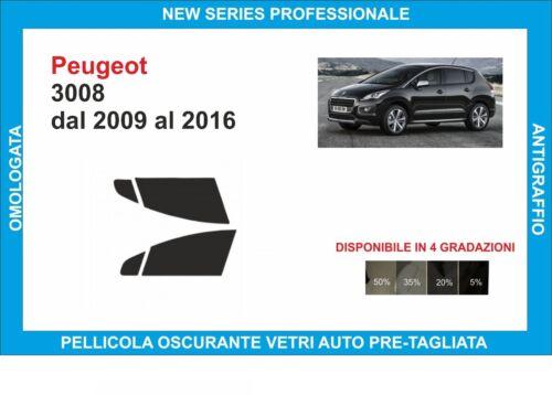 Fenstertönung Folie Glas Peugeot 3008 von 2009-2016 Set Vorne