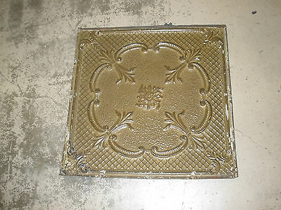 Antique Ceiling Tin-Tile #3-Vintage-Primitive--2x2 ft-Old Architectural