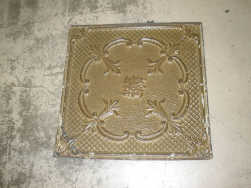 Antique Ceiling Tin-Tile-Vintage-Primitive-Late 1800/'s-2x2 ft-Old Architectural
