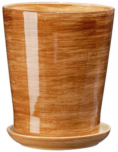 PORTAVASO IN CERAMICA FIORI VASO porta vasi piante dimensioni 3//4 COLORI!!!