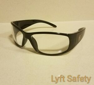 Smith /& Wesson Elite Black Clear Anti-Fog Safety Glasses Eye Protection 21302