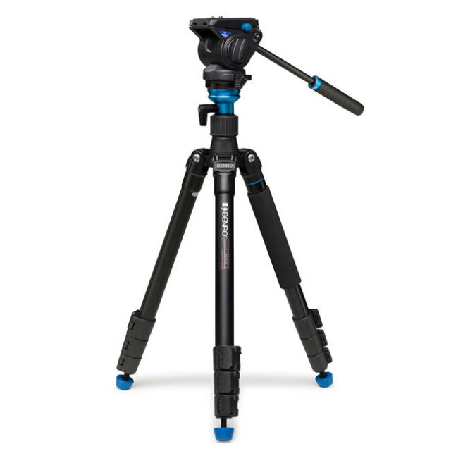 Benro A2883FS4 Areo 4 Video Tripod Monopod Head Kit * 4kg (8.8 lb) Max. Load