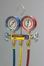 """Yellow Jacket 42004 Series 41 Manifold with 60"""" Hoses - R-22 / 404a / 410a"""