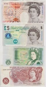 FFORDE 10/-, SOMERSET £1, LOWTHER £5 & KENTFIELD £10 IN GOOD VERY FINE CONDITION