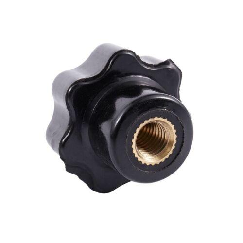 M6 X 25Mm Innengewinde Kunststoff Stern Kopf Spann Knopf Jig Schwarz 8 Stück n60