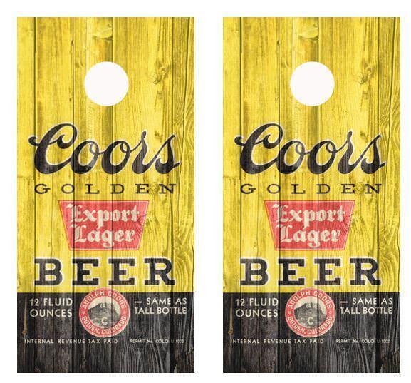 Vintage 1936-1940 Coors Export Lager Label Barnwood  Cornhole Board Wraps  discount promotions