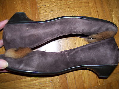 Damen Pumps Schuhe Gr.6,5/40 von LEA FOSCATI made in Italy Wildleder