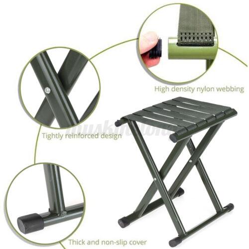 "330Lb 13/"" Portable Ultralight Folding Chair Seat Camping Picnic Fishing Stool"