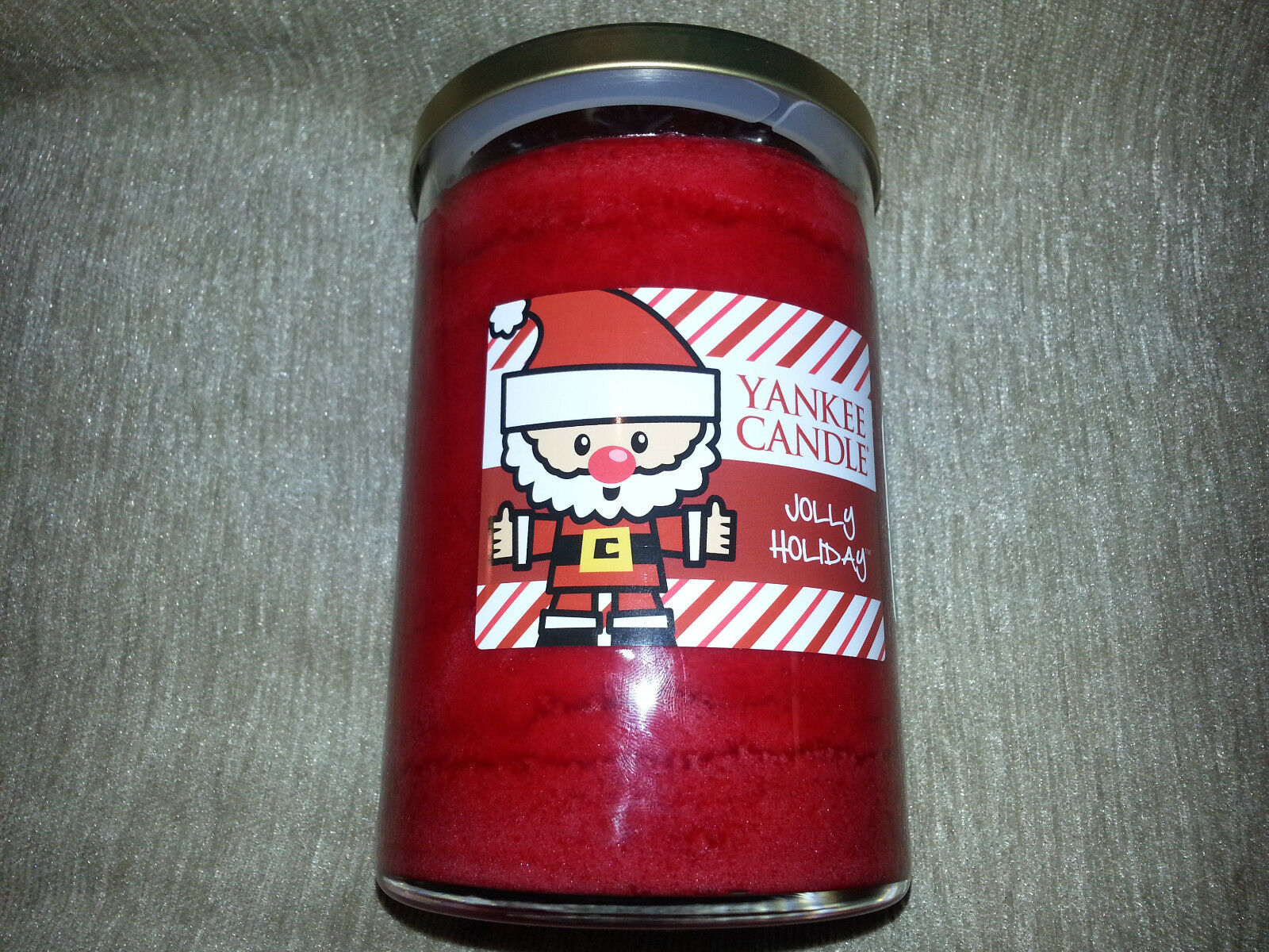 YANKEE CANDLE Large 20 oz Glass Jar Tumbler JOLLY HOLIDAY Red CHRISTMAS CHERRY