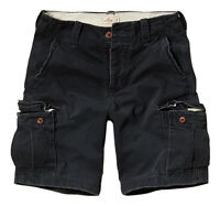 Hollister By A&f Classic At The Knee Cargo Shorts Navy Blue 28, 30, 31