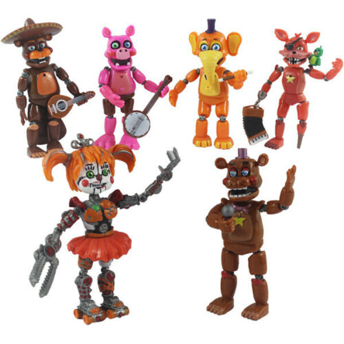 "FNAF Five Nights At Freddy/'s Pizza Simulator Action Figures Game Toys 5.5/"" 6 pcs"