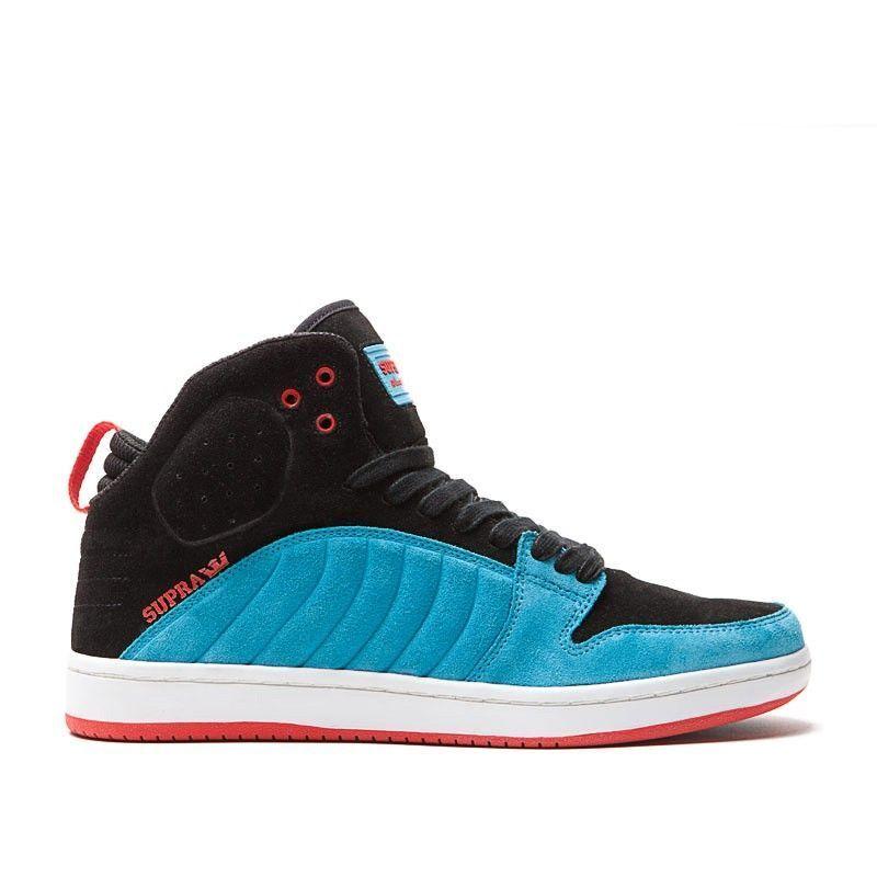 S72018 - Mens Supra S1W Black/White/Blue/Red New In Box Sizes 8-11