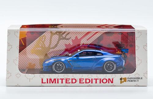 Blue MCE Canada Exclusive 1//64 LB Works Nissan GT-R R35 Type 2 GT Wing Met