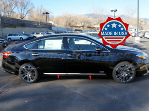 Fit 13 2018 Toyota Avalon 4pc Chrome Flat Lower Body Side Molding Trim 1 Insert Ebay