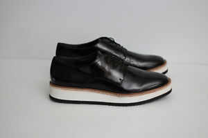 d8123d3df6b NEW Vince  Reed  Glazed Leather Platform Oxford Shoe - Black - Size ...