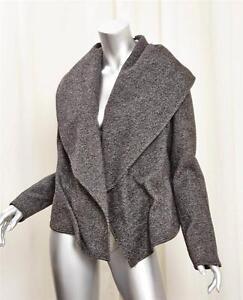 White 44 Black Fitted Kaufmanfranco Draped Collar Tweed 8 Raglan Wool Jacket O5xSxwqvB