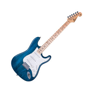 Electric Guitar Strat Shape White Swamp Ash Body with Blue gloss finish by SX