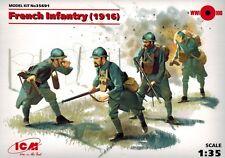 ICM 35691 - French Infantry 1916 -  französchische Soldaten - 1:35