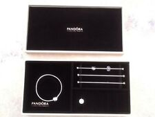 PANDORA Cream Leather One Tier Stackable Jewellery Box light Beige rods