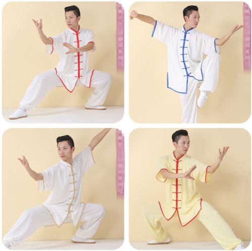 Cotton Silk TaiChi Trainning Uniforms aiji Kungfu Exercising Clothes with Border