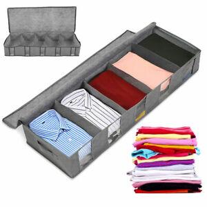 53L-Large-Under-Bed-Storage-Bag-Box-5-Compartments-Clothes-Underwear-Organizer