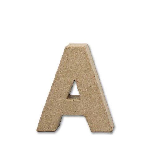 Letra de papel-mâché-a con 10 cm de altura 2 cm de grosor-DEKO bricolaje ambas