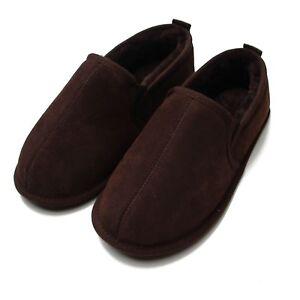 Slipper Returns Deluxe Sole Free Boot Soft Sheepskin Mens Chocolate Ax1UIwqfx