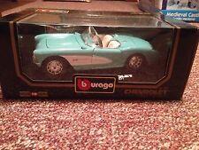 Bburago 1957 Chevrolet Corvette Fuelie 1:18 Diecast #3034 NEW NIB