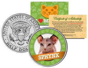 SPHYNX-Cat-JFK-Kennedy-Half-Dollar-US-Colorized-Coin
