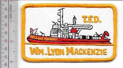 Fire Boat Ontario Toronto Fire Department the Wm Lyon MacKenzie Fireboat Canada
