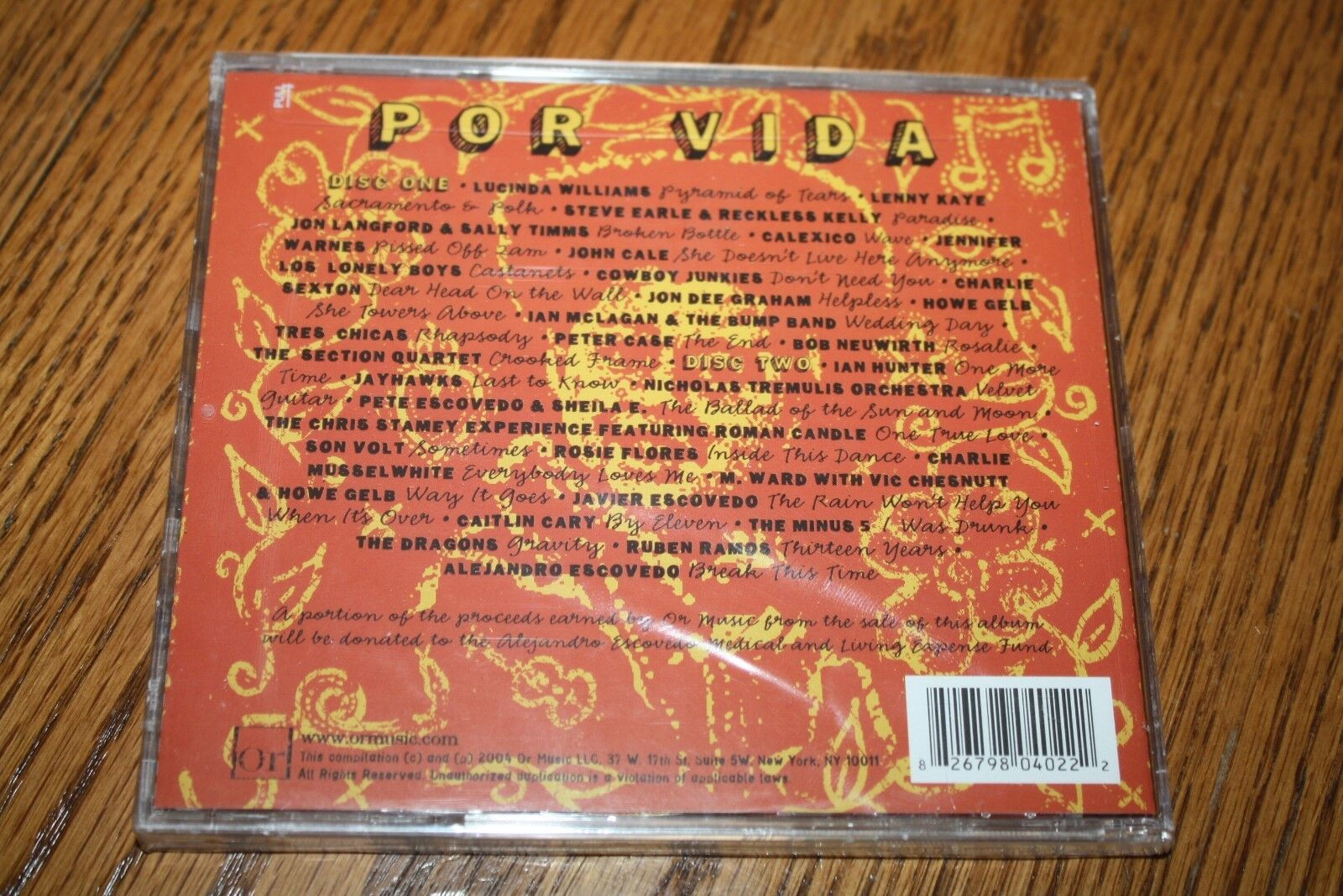Por Vida: A Tribute to the Songs of Alejandro Escovedo by Various Artists  (CD, Jul-2004, 2 Discs, Or Music LLC)
