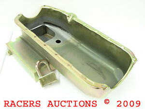 55-79-Small-Block-Chevy-7qt-Circle-Track-Oil-Pan-and-Pickup-Tube-Zinc-350-400