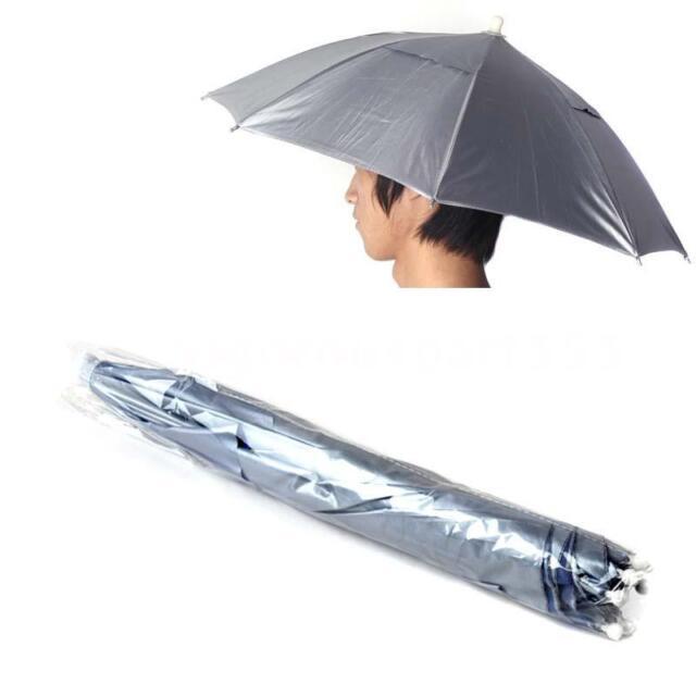 Outdoor Sports PVC Fishing Hat Sun Brolly Umbrella Cap Golf Hunting Camping U6L9