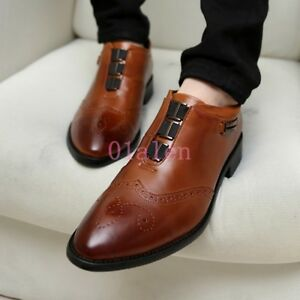 retro british men s leather carving dress shoes oxfords italian