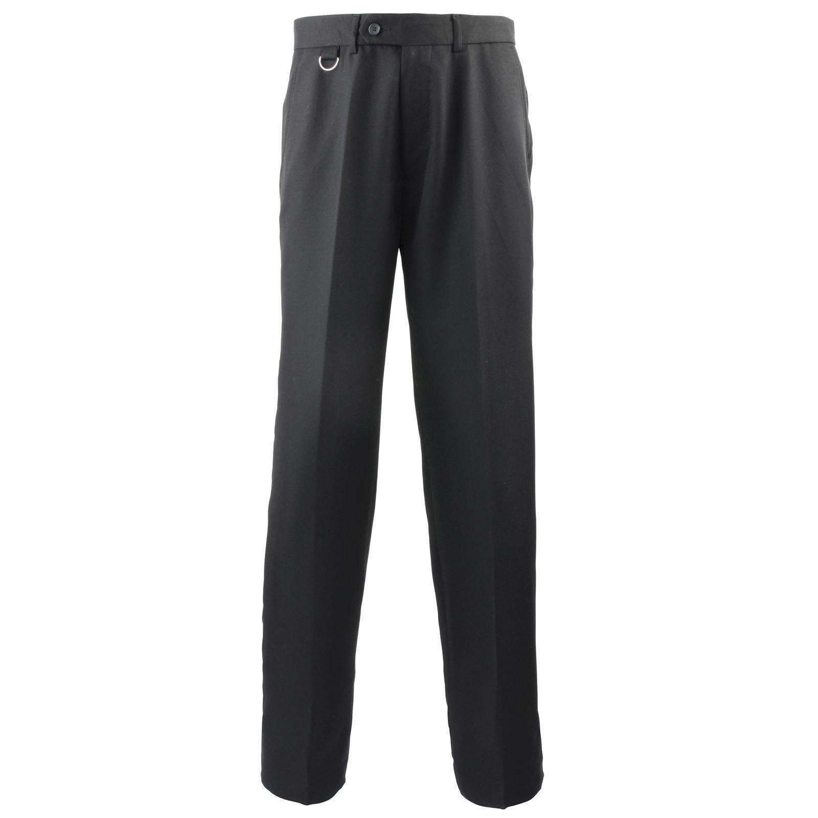 New PREMIER Mens Flat Front Hospitality Trouser in Sky Navy 30 - 42