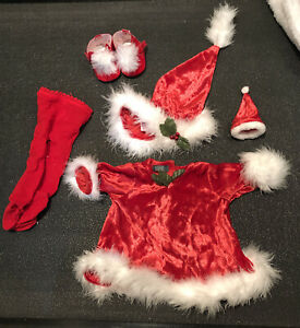 American Girl BittyBaby Holiday 2000 Outfit Santa's Helper Christmas Vintage Bb6