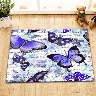 "24x16/""Beautiful Butterfly Non-Slip Home Decor Door Floor Carpet Bathroom Mat Rug"