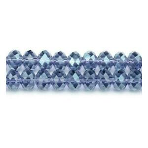 Pcs Art Hobby Crafts Pale Blue Czech Crystal Glass Faceted Bicone Beads 6mm 50