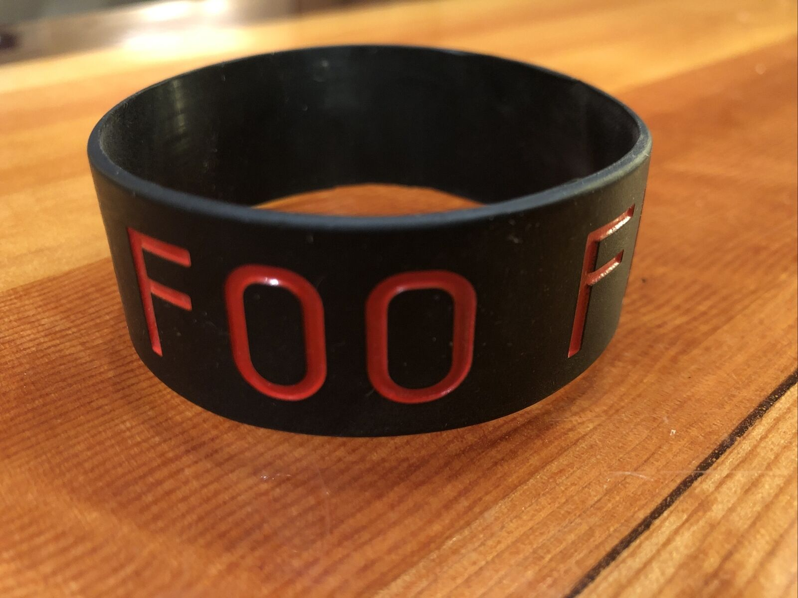 Foo Fighters Black and Red Wristband