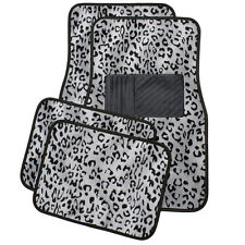 Car Auto Floor Mats for Honda Accord Grey Safari Leopard Animal Print Carpet